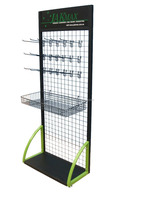 metal wire basket display rack/ wire display stand