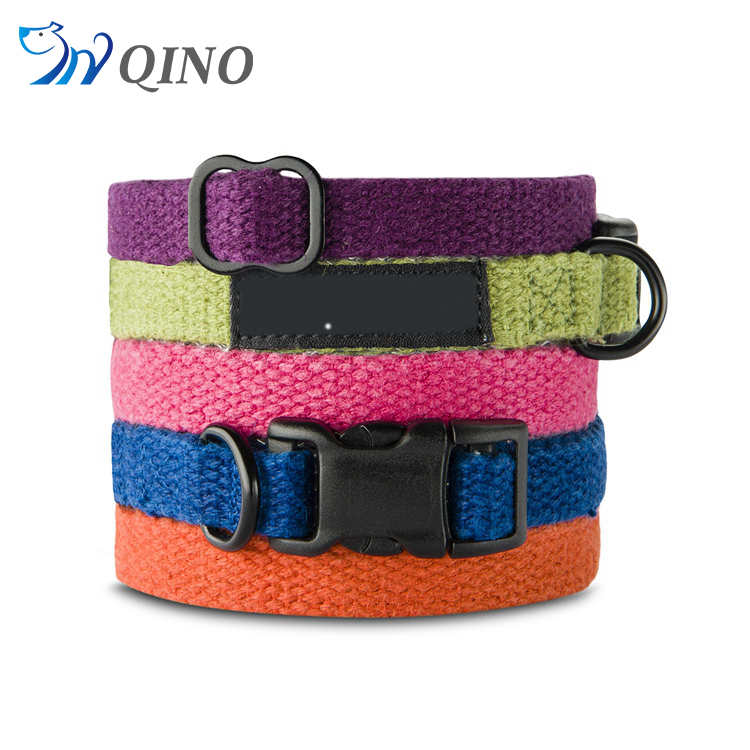 QN-A-5550 handmade natural hemp dog collar