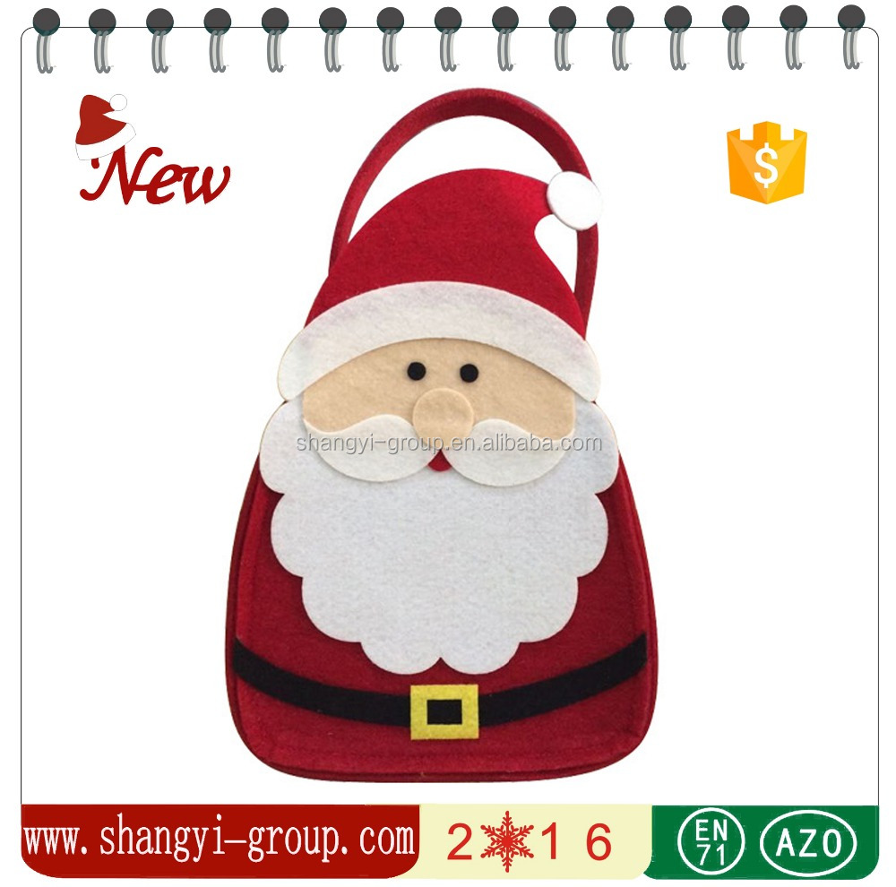(XM9-30) Gifts & Crafts suppliers beautiful christmas felt gift bag for wholesale