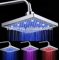 LED Overhead Rain Shower, LED light Shower Head, Rain Shower Head Ceiling