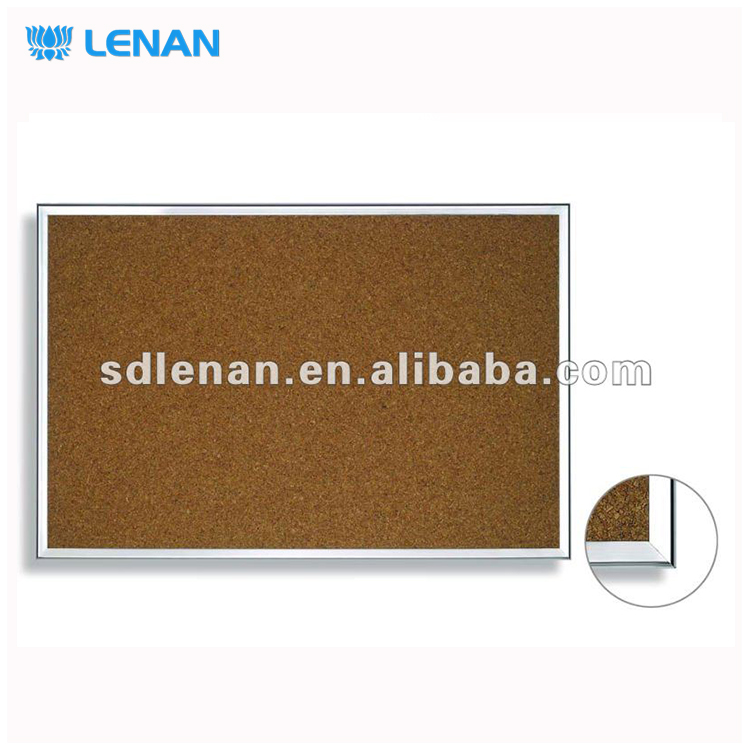 "Wholesale custom printed wood / aluminium frame wall white board decorative sizes of 1"" thick cork bulletin board"