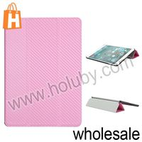 Straw Mat Pattern Magnetic Flip Stand PC+Leather Case For iPad Air