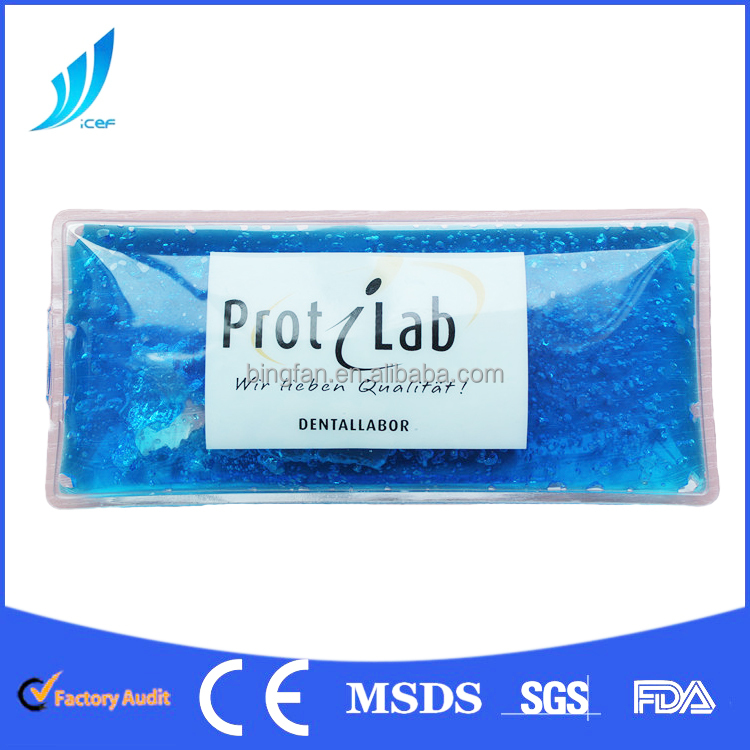 PE/PVC ice pack for frozen food gel ice pack for food storage