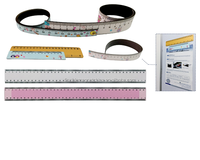 Factory price Top Quality Flexible Mgnetic ruler/Customized Size Rubber Magnetic Ruler/Magnetic Ruler