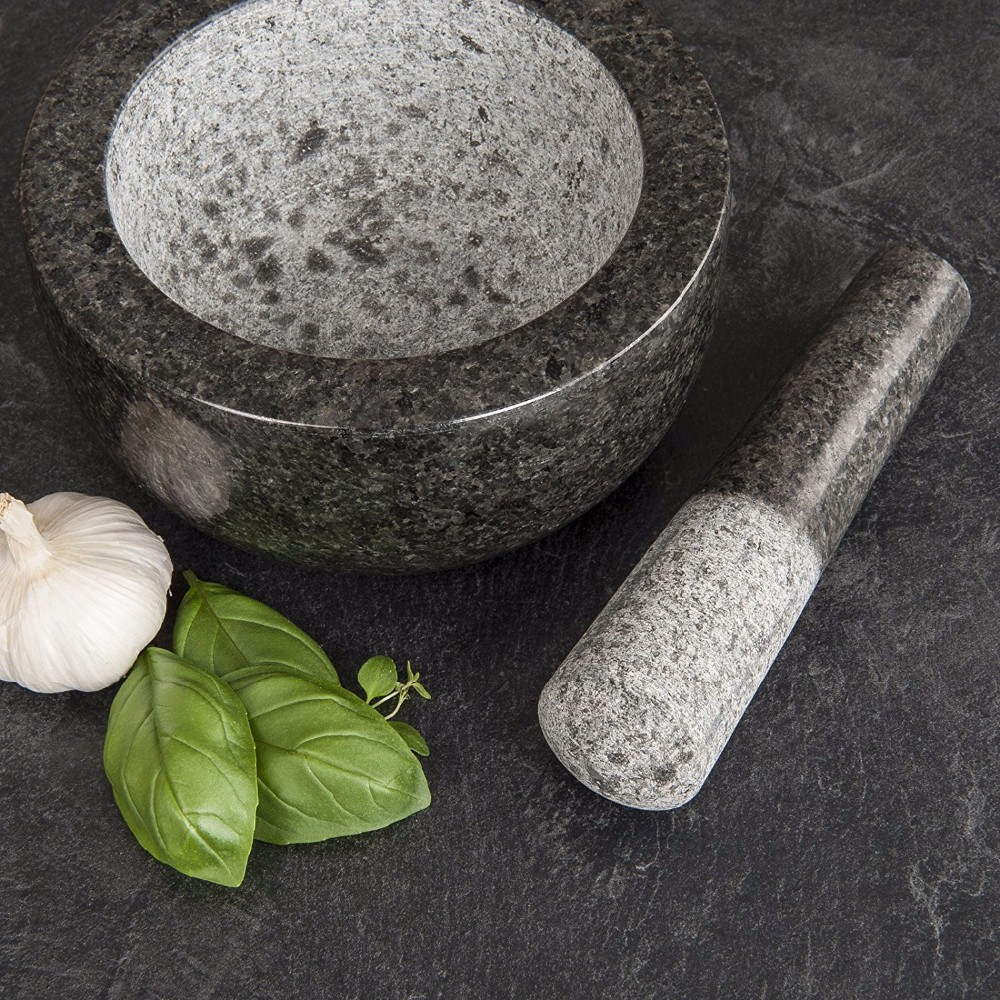 Amazon Hot Sale Stone Mortar and Pestle / Spice Grinder / Molcajete
