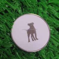 silver color ball marker for golf with customized logo embossed