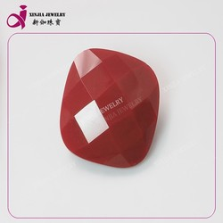 brilliant red Glass sygemstone square cut glass best price