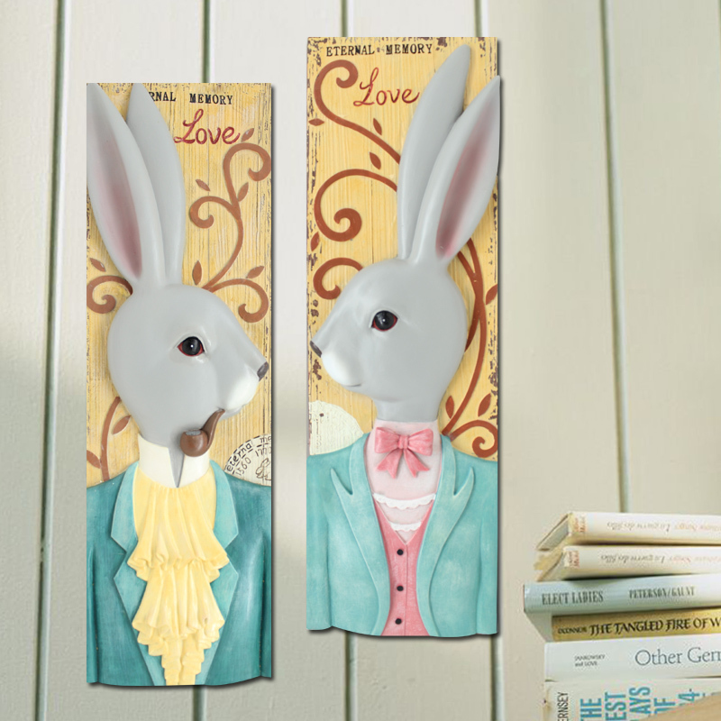 New Design wall hanging 3D wall decor animal home rabbit wall decoration