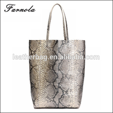 China Supplier 2016 Fashion Custom Hand Bag Manufacturer Women's Snack Leather Handbag Tote Bag for Ladies