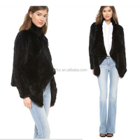 YR660 New Arrival Casual Style Rabbit Fur Coats/Winter Fur Coat from China OEM