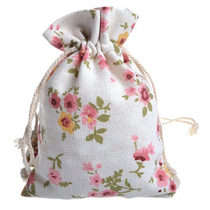 Custom Eco-friendly Natural Cotton Muslin Drawstring Bag