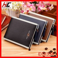 Hot selling horizontal PU leather wallet on USA wish security mess card holder