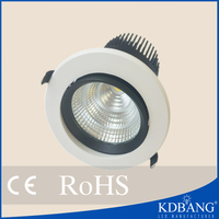 Factory price recessed cob led downlight 15w