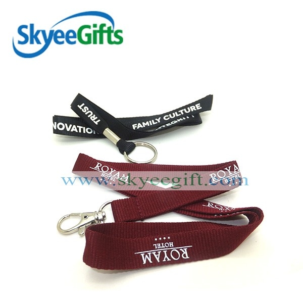 custom promotional heated transfer printed water bottle holder neck lanyards strap