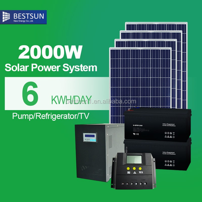 solar ups 2000w complete home solar power system for small homes working model of solar system