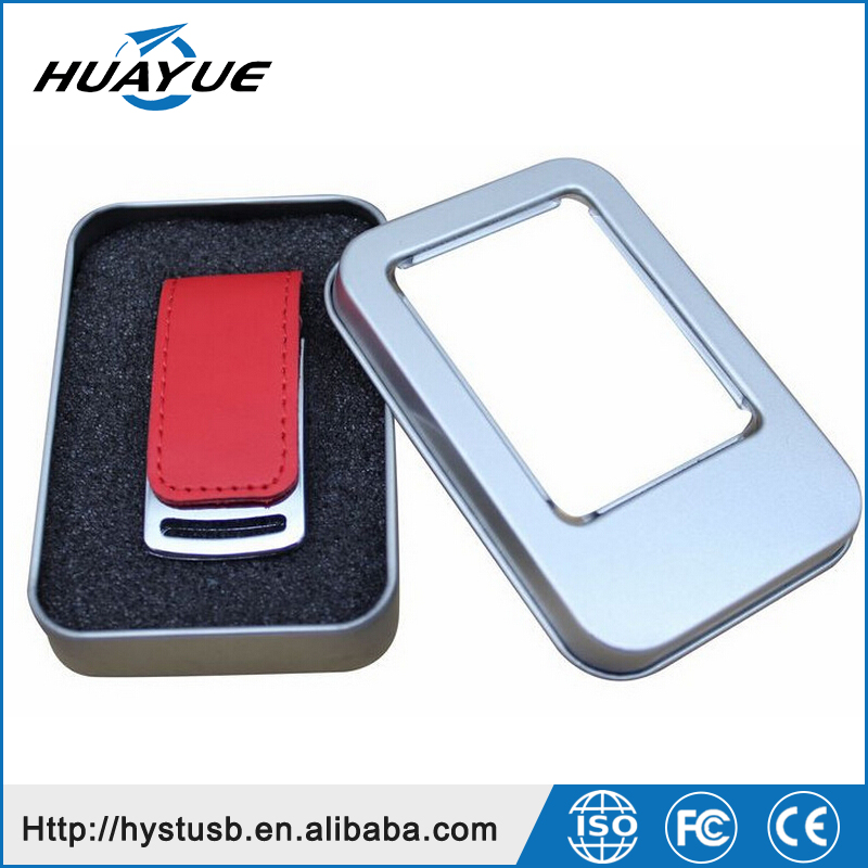 Businessmen's Gift Promotion USB 3.0/2.0 Small USB Flash Drive with Leather Case