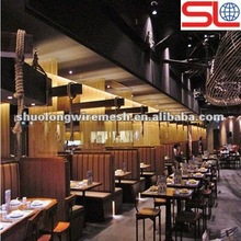 Europe Best Sell anodization metal fabric curtain /partition wall