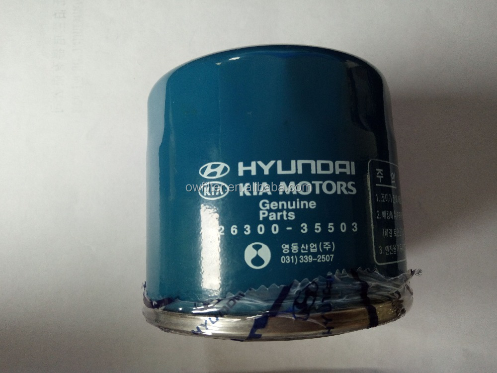 Hyundai Original oil filter OEM 26300-35503
