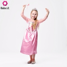 Summer Long Sleeves Boutique Fancy Tulle Ball Princess Pink Maxi Dress For Kids Girl