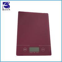 CE rohs high quality Electronic glass kitchen scale with lcd displa for 3kg 5kg
