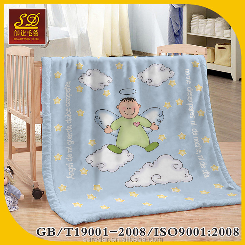 Super soft touch fleece cheap knitted crochet animal toy printed baby blanket/soft microfiber fabric baby heated blanket