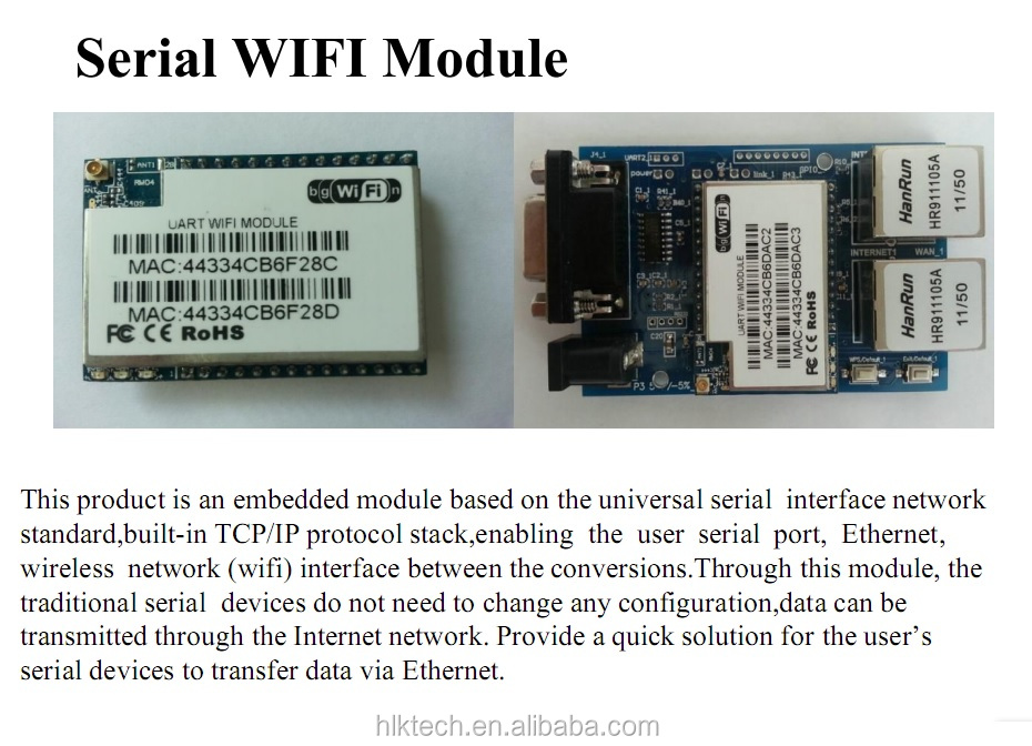 HLK-RM04 RM04 Uart Serial Port to Ethernet WiFi Wireless Module with Adapter Board Development Kit HLK-RM04 startkit