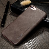 Xlevel Factory Exported Vintage PU leather Moblie phone case For iPhone 7