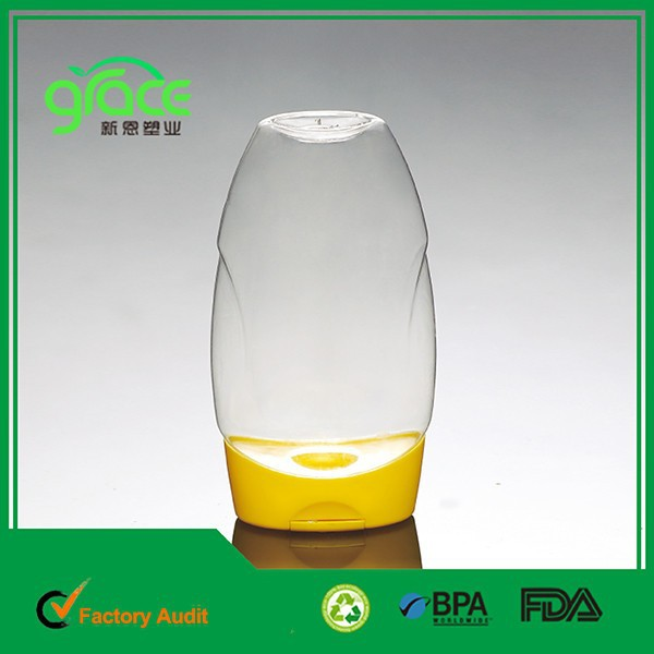 silicone cap small empty clear pet bulk honey bottles