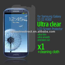 1x cell phone screen protectors Clear Protector Film For Samsung Galaxy S3