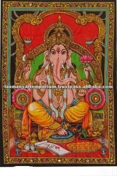 hindu god printed wall hangings