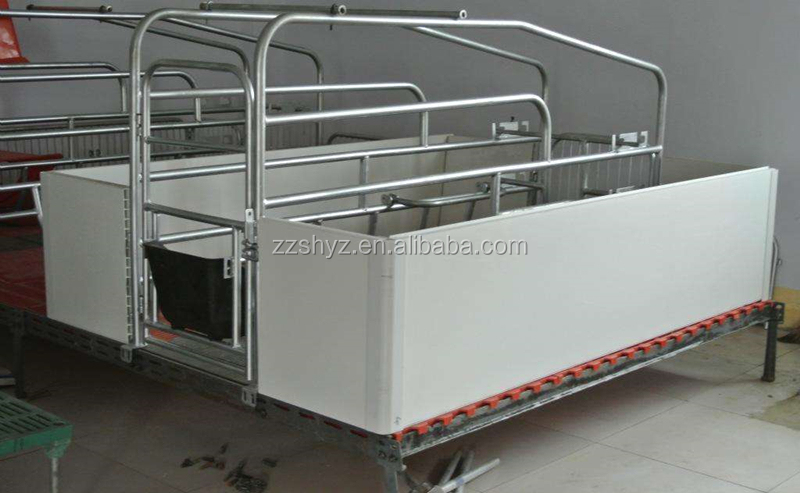 Industrial modern stainless steel pig farm design with PVC panel