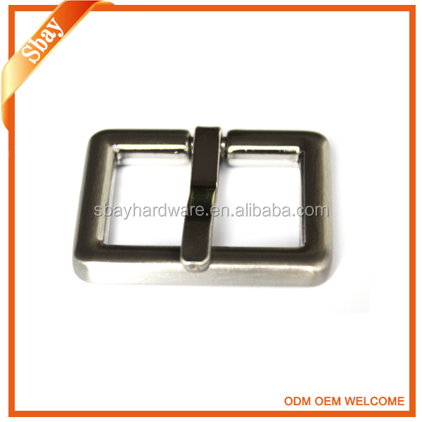 Fashion silver square rhinestone custom metal belt buckle