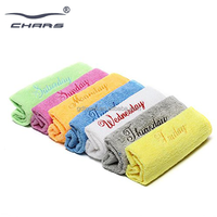 private lable promotion custom logo color 3m cleaning towel car microfiber towel for window