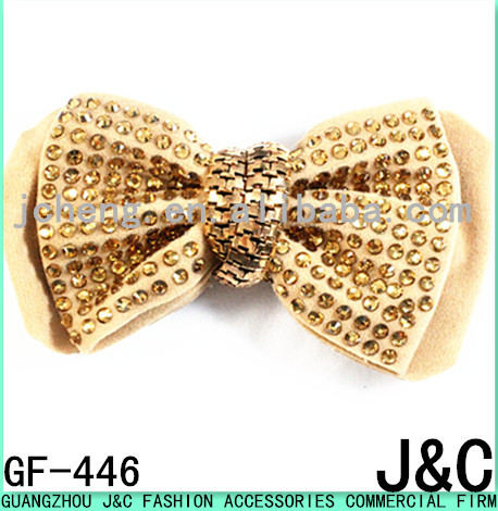 2015 the most fashionable rhinestone stone shoe bow