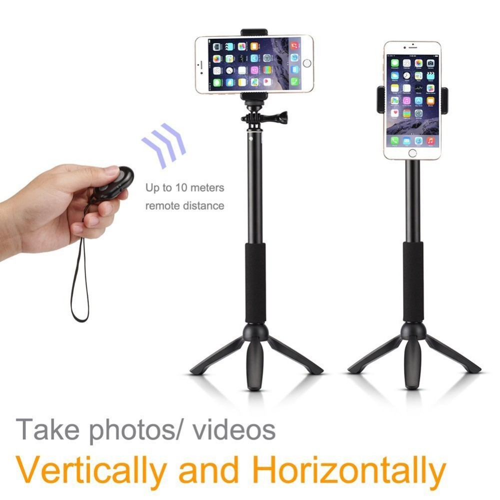 bluetooth selfie stick monopod with tripod stand for iphone and android buy selfie monopod. Black Bedroom Furniture Sets. Home Design Ideas