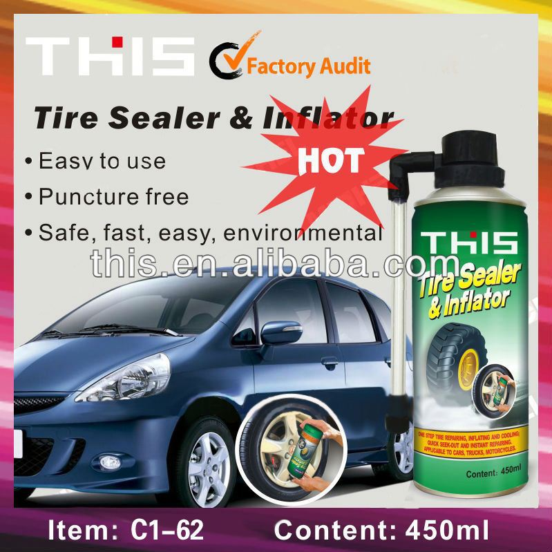450ml Portable Car Tire Sealant With Air Compressor