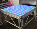 Newest 1.22*1.22cm rgb cheap led dance floor panels stage