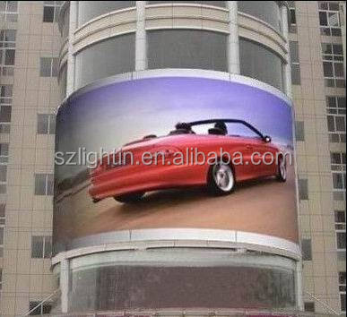P6.66 Cylinder Outdoor LED Display Full Color Round LED Screen Waterproof LED Curved LED Video Wall