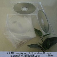 5.2mm slim double clear CD case