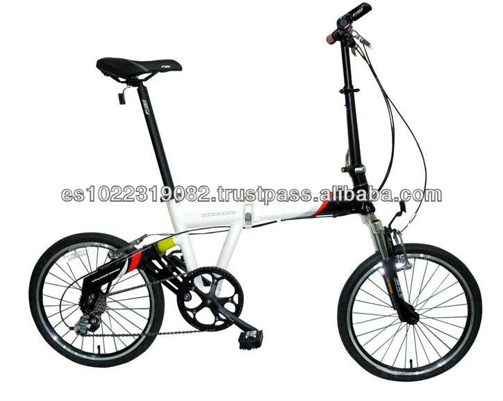 20 inch 6 speed suspension alloy safe folding bike