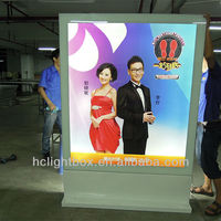 exterior sign light free standing lightboxes led billboard display