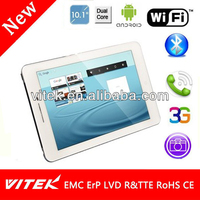 Slim 10.1 inch 3G Notepad Touch Screen Tablet