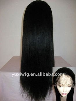 2013 New Style Wholesale AAA Quality Indian Remy Human Hair Full Lace Wig 28'' 1#