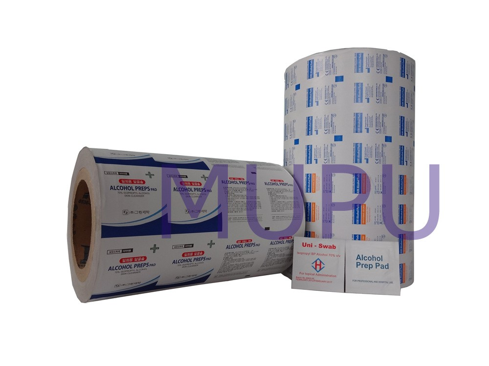 Alcohol prep pad package paper