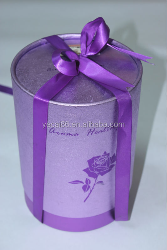 Custom printed round gift boxes small quantity