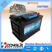 MF57540 Super Power Calcium Casting Grid Car Battery 12V 75Ah