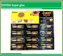 Suyida high strength instant all purpose adhesive with good quality super glue 502