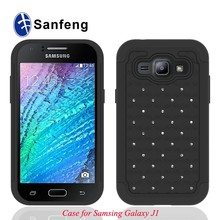 Mobile phone Accessories combo cover for samsung J1sam J100h cellphone hybrid case