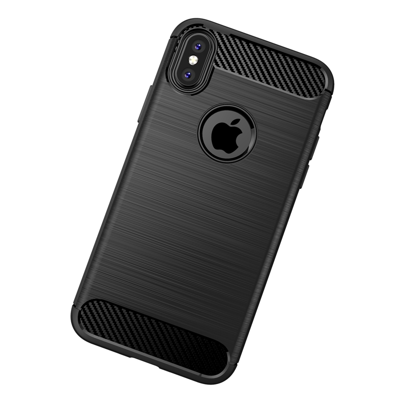 Hot Selling Wholesale Silicon Protective Camera case for iphoneX Ultra Thin Soft Carbon fiber cell phone back case for iphone X