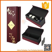 luxury paper red wine box for sale